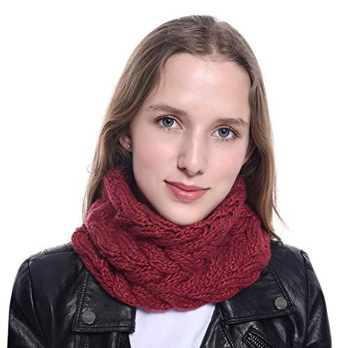 PLOT Schals für Damen Loop Modische Einfarbig Strickschal Grobstrick Winterschal Halstuch Schlauchschal Halstücher Deckenschal Herbstschal (Rabatt Kostüm Accessoires)