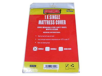3XSingle Vinyl Plastic Fitted Mattress Bed Cover Sheet Protector