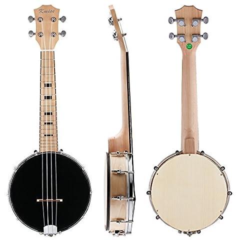 Kmise Concert Banjo Ukulele Ukelele Uke 4 String 23 Inch Maple Wood Musical Instruments