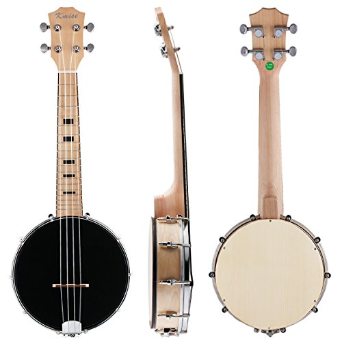Kmise Banjo-Ukulele mit 4Saiten für Konzerte, 58,4cm, aus Sapeli-Holz Concert 23 inch MI2097