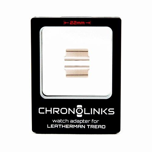 ChronoLinks Uhradapter silber für Leatherman TREAD und Armbanduhr (22mm)