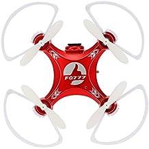FQ777-954D Mini Wifi FPV RC Drone con cámara de 0,3 MP 2,4 G 4 CH 6 ejes Gyro RTF Quadcopter y un botón de retorno sin cabeza Drone rosso