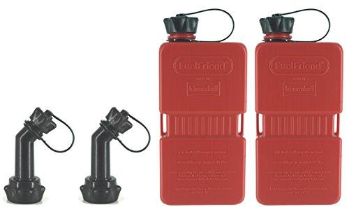 FuelFriend®-Plus - Tanica da 1.5 Litri + Tubo bloccabile - 2 Pezzi per Un Prezzo S