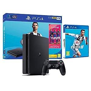 PS4 Slim 1TB schwarz Playstation 4 Konsole + FIFA 19