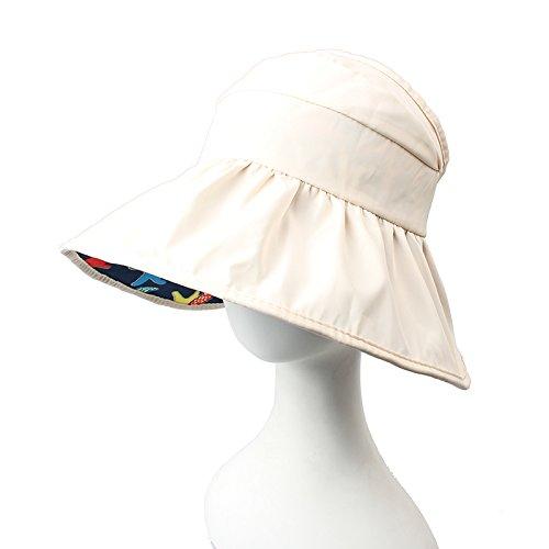 ZHANGYONG*Les enfants de l'été vide UV Pare-soleil haut chapeau de soleil chapeau de soleil de sable le long de l'été , pour l'édition de l'homme et la femme - rose clair en rouge Édition pour Enfants - bleu marine blanc m