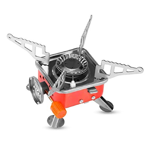ROYAL PEAFOWL Generic Outdoor Portable Square-Shaped Gas Butane Burner Camping Picnic Stove