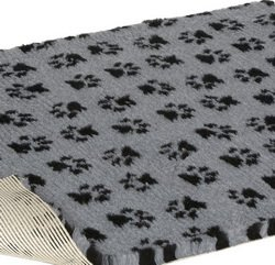 Vetbed Non-Slip Grey with Black Paw Print, 26 x 20-Inch by Petlife International