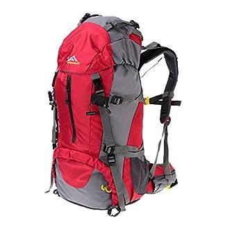 41IwLqqyOsL. SS324  - Lixada Mochila de Senderismo 50L/60L con Cubierta Impermeable Mochila de Marcha Trekking Camping Deporte al Aire Libre