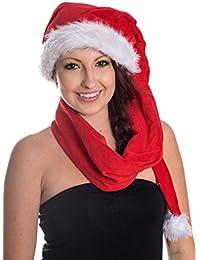 150cm Schal Weihnachtsmütze Mütze Nikolausmütze Nikolaus Weihnachtsmann WM0101001