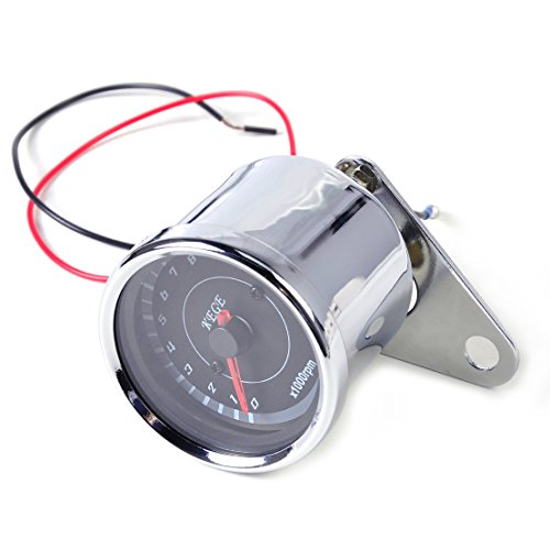 Preisvergleich Produktbild 60mm LED-13000 RPM Tacho Scooter Analog Tacho Messinstrument Lehre Motorrad Universal