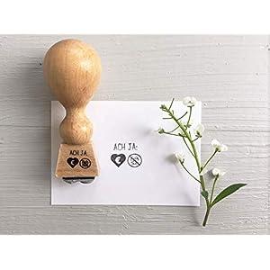 Stempel ACH JA: Symbole Geldgeschenk, Stempel Hochzeit