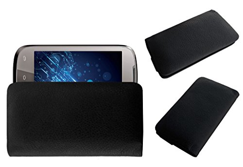 Acm Rich Leather Soft Case For Lava Xolo A500 Mobile Handpouch Cover Carry Black  available at amazon for Rs.329