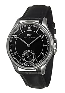 IWC PORTUGUESE IW544501 GENTS BLACK CALFSKIN STAINLESS STEEL CASE WATCH