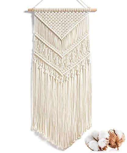 Alumuk Makramee Wandbehang Dekoration für Ihr Zimmer wie die Küche, Böhmische Wanddeko Wandteppich aus Baumwolle...