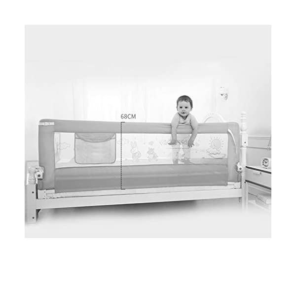 Playpens Crib Guardrail Baby Shatter-resistant Fence Large Bed 1.5-2.0 Meters Children Against Bedside Baffle (color : C, Size : 1.5m) Playpens ★ high quality non-toxic materials,Size:150cm/180cm/200cm ★ Vertical lift structure: no space is occupied, and it is more convenient to enter and exit. Push the fence down at the push of a button ★ height adjustment: can be adjusted according to the thickness of the mattress, so that the bed is close to the mattress. Avoid gaps between the mattress and the guardrail to prevent your child from falling 2