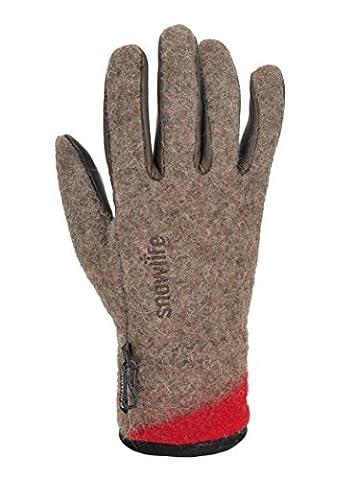 Snowlife Winter Ski Outdoor Gloves for Men Modell Swiss Army Woolen, brown XL