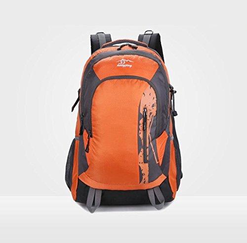 LF&F Mountaintop 40-45L KapazitäT Reise Wandern Camping Rucksack Urlaub GepäCk Tasche Schule Rucksack Running Sport Gym Storage Bag Teenager TäGlichen Gebrauch B