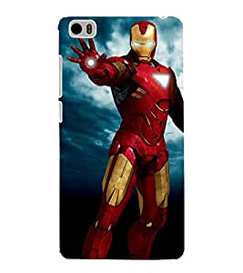 Takkloo super hero ( man in red iron costume, man wearing mask, warrior, blue background, yellow iron mask) Printed Designer Back Case Cover for Xiaomi Mi 5 :: Redmi Mi5