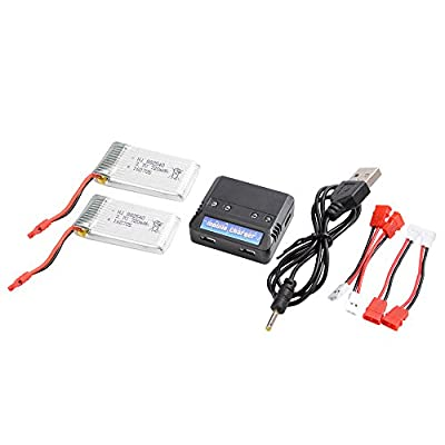 XCSOURCE 2pcs 3.7V 720mAh 25C Lipo Battery + 4 in 1 Battery Charger For Syma X5HC X5HW Quadcopter BC594