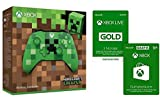 Xbox Wireless Controller - Minecraft Green Limited Edition + Xbox Live Gold Mitgliedschaft 3 Monate + 10 EUR GRATIS