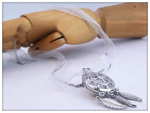 Halskette Sautoir romantischer Diffusor aus Parfüm oder ätherischen Ölen von Le Piment Rose (öl Halsketten Diffusor)