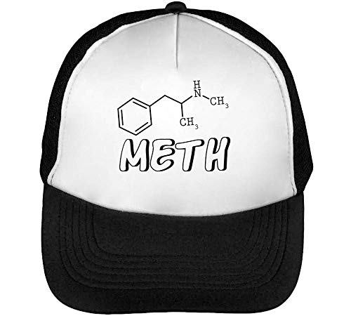 Meth Molecule Formula Trucker Cap Herren Damen Schwarz weiß Snapback -