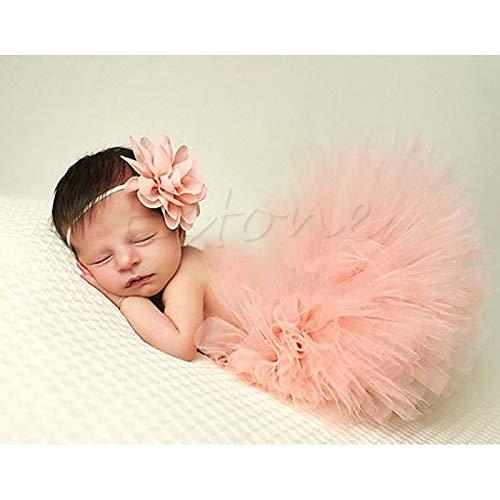 neonato tutu vestiti gonna copricapo fiore foto fotografia Prop outfit