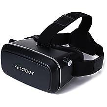"""Andoer®CST-09 Versión VR Gafas 3D Realidad Virtual DIY 3D VR Vídeo Juego de la Película Gafas Monte Cabeza con Diadema para el iPhone Samsung / Todas 4.0 ~ 6.0 """"Smart Phones"""