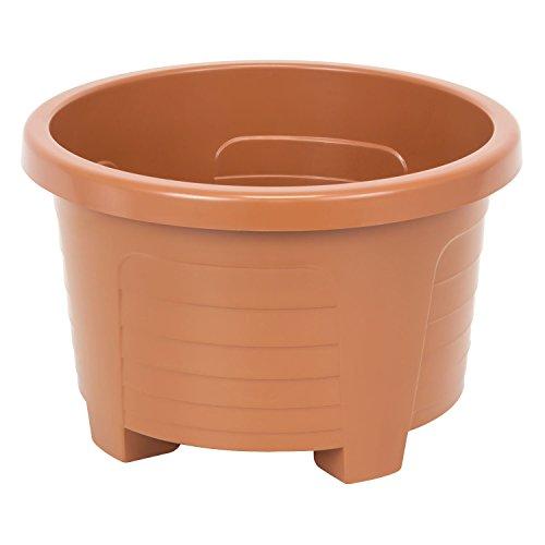 Muza rond cache pot en plastique, dametre: 28 cm, en blanc