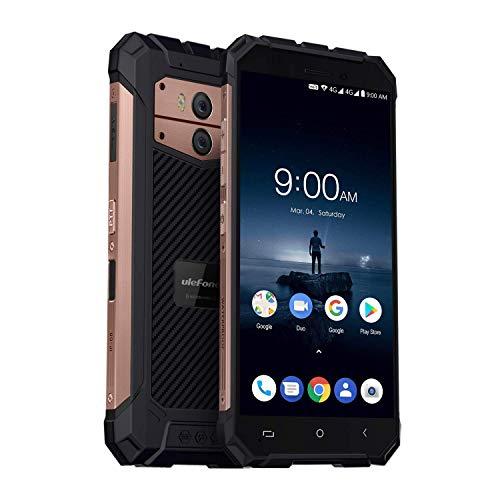 Ulefone Armor X Andriod 8.1 4G LTE Outdoor Handy (5500mAh Akku Qi-fähig, IP68 Wasserdicht Smartphone, 5,5 Zoll Display, 2GB + 16GB, Dual SIM LTE, NFC, Face ID, Kompass, OTG) Rosegold