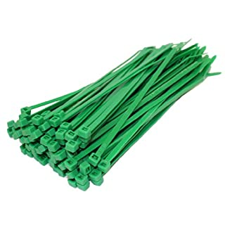 All Trade Direct 200 X Green Cable Ties 140Mm X 3.6Mm Zip Tie Wraps Bases All Sizes Stocked by All Trade Direct