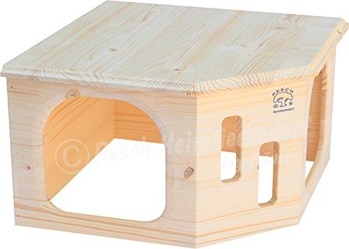Resch Nr33 Kaninchenecke Groß naturbelassenes Massivholz aus Fichte/mit Zwei Großen Eingängen und Großer Dachliegefläche (Misc.)
