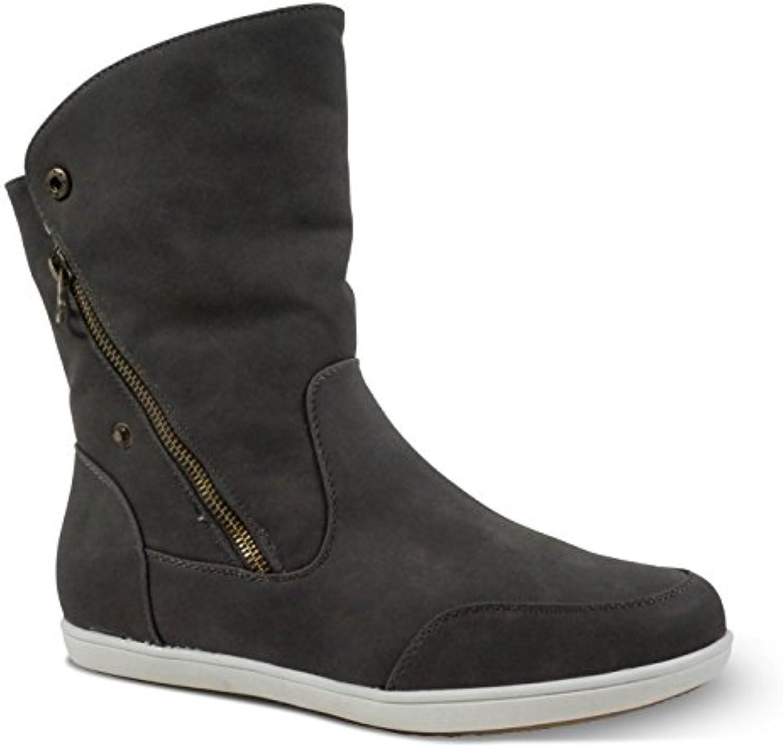 Unbekannt Femme Femme Bottines pour Femme Femme Boots Bottes à Enfiler Bottes légèreHommes t rembourré BL35B0765BNRS1Parent 8aa9a9