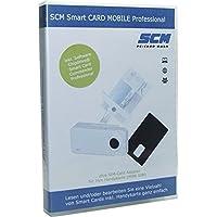 SCM Smart Card Mobile Professional–Lettore di schede Plus software per leggere la scheda SIM/diverse altri Smart cards/Online Banking