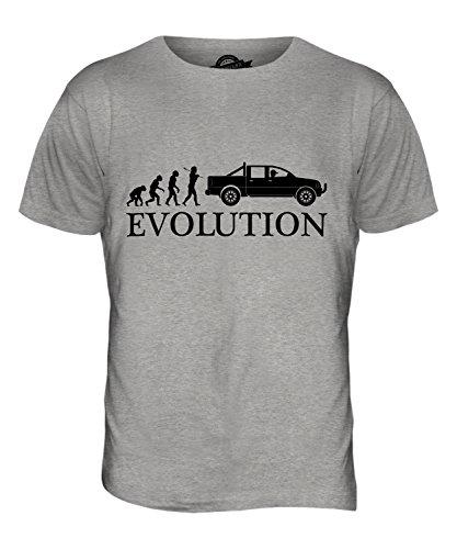 CandyMix Pick Up Evolution Des Menschen Herren T Shirt Grau Meliert
