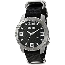 Roots Men's 'Core' Quartz Stainless Steel and Nylon Casual Watch, Color:Black (Model: 1R-LF600BA7B)