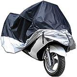 غطاء الدراجة النارية الممسحة سكوتر مقاوم للماء المطر الأشعة فوق البنفسجية الغبار غطاء الحجم L