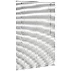 AmazonBasics Aluminium Venetian Blind, 90 x 130 cm - Silver