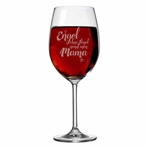 """XXL LEONARDO Weinglas """"Engel ohne Flügel nennt man Mama"""", 630 ml mit Gravur Rotweinglas / Weißweinglas, lustige Geschenkidee, Geschenk zum Muttertag, Muttertagsgeschenk, witziges Geburtstagsgeschenk für Mütter LEONARDO"""