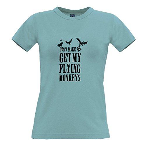 Lassen Sie Mich Nicht Meine Fliegen-Affen Lustige Slogan Design Erhalten Frauen T-Shirt (Top Halloween-witze 10)