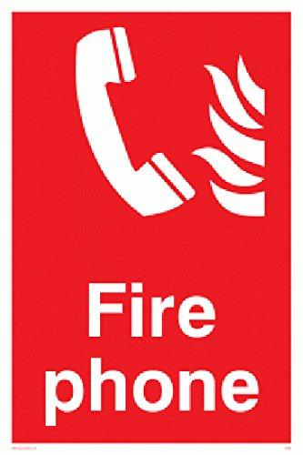 Preisvergleich Produktbild Viking Schilder fv363-a6p-v FIRE PHONE Fire Sicherheit Zeichen,  Vinyl / Aufkleber,  100 mm H x 150 mm W