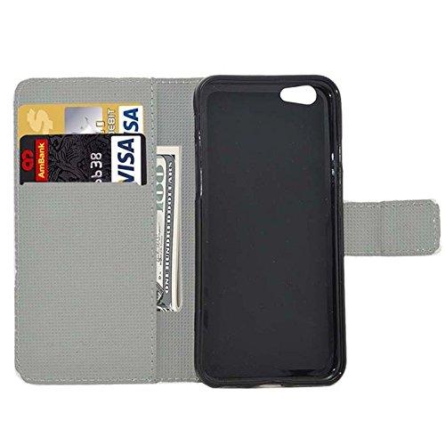 Phone case & Hülle Für IPhone 6 / 6S, Kirschblüten-Muster-horizontale Flip Magnetische Wölbungs-Leder-Kasten mit Einbauschlitzen u. Mappe u. Halter ( SKU : S-IP6G-0599F ) S-IP6G-0599H