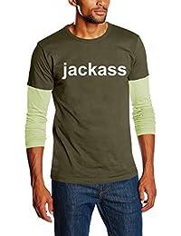 Touchlines Unisex/Herren Jackass Layered Langarm T-Shirt SB229