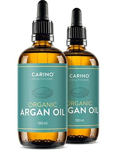 Carino HealthCare BIO Arganöl 100ml aus Marokko 100% rein kaltgepresst Anti-Falten Anti-Aging-Pflege für Haut Haare und Nägel Serum Haut Haare 2x 100ml