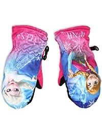 Moufles de ski enfant fille La Reine des neiges Rose et Bleu de 3 à 6ans