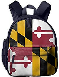 Flag of Maryland Kid and Toddler Student Backpack School Bag Super Bookbag