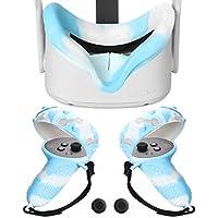 Cover en Silicone+Housse pour Manette Oculus Quest 2 Antidérapant Anti Collision Manipuler Les Couvercles de Protection…