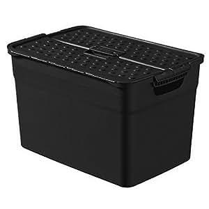 Curver 2045338 Pixxel Boîte de Rangement Plastique Noir 12 L
