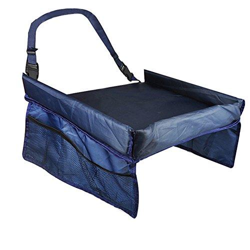 Impermeabile tabella del seggiolino auto vassoio portaoggetti giocattoli per bambini infantile passeggino per bambini, colore: Blu