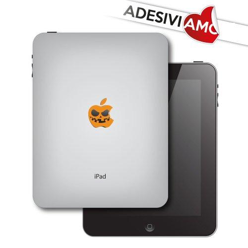 (Adesiviamo Sticker Halloween Pumpkin - Apple Zucca Aufkleber für Apple iPad und iPad Mini Vinyl Aufkleber Pre-Abstand)